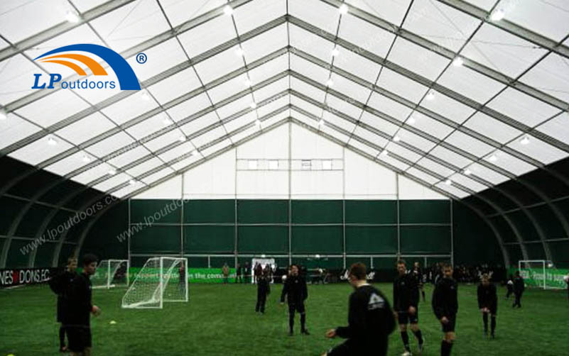 Large Clear Span Temporary Stadium Curved Tent for Sports Club